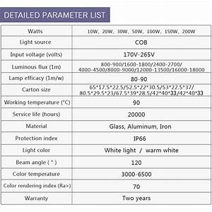 110v 220v Outdoor Ip66 Flood Light Import And Export Product Good Quality10w 20w 30w 50w 100w