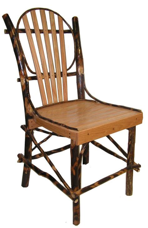 rustic hickory and oak kitchen chair