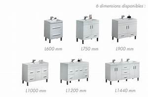 meubles lave mains robinetteries meuble sdb meuble de With meuble salle de bain blanc laqué 120