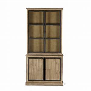 Alinea Meuble Salon : meuble double vitrine style industriel brun blanchi cocto les vaisseliers buffets et ~ Teatrodelosmanantiales.com Idées de Décoration