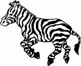 Zebra Coloring Pages Animals Zebras Playful sketch template