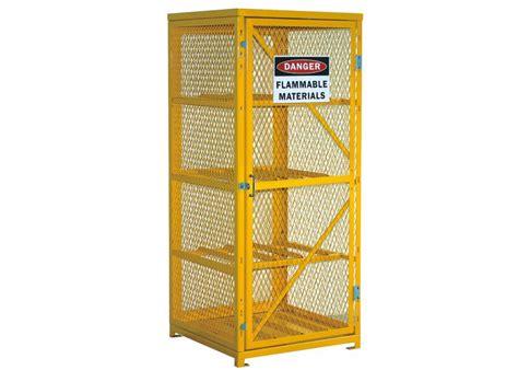 extra  lockable gas bottle storage cabinet propane tank storage cage  shelves