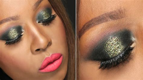 years eve party makeup tutorial  nye gold
