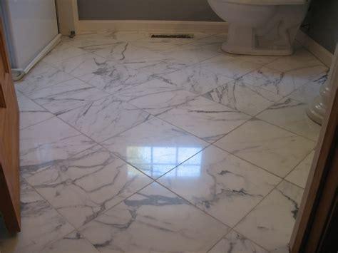 Bathroom Marble Floor Restoration In Boxborough, Ma