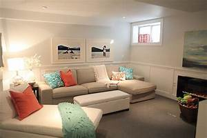 apartments awesome small basement living room ideas with With small sectional sofa basement