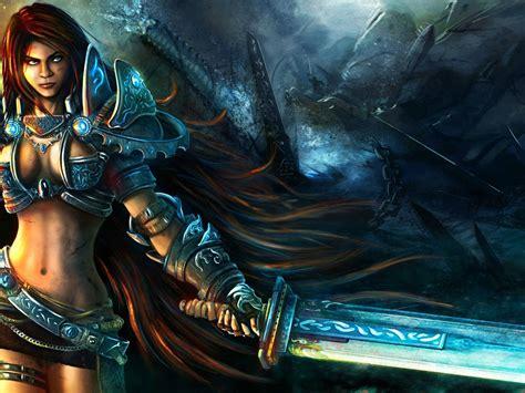 Woman Warrior Fantasy Hd Wallpaper 2560x1440 26482 ...