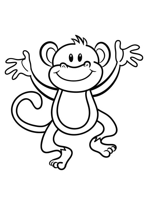 coloring pages  monkeys printable activity shelter