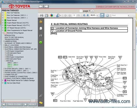 Toyota Previa Tarago Repair Manuals Download Wiring