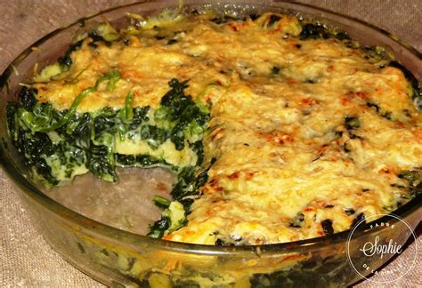 cuisine patate douce gratin de gnocchis aux épinards la tendresse en cuisine