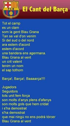 El Himno del Barça todos a cantar d ♥ Himno del
