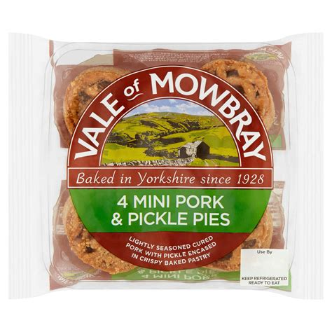 Vale of Mowbray 4 Mini Pork & Pickle Pies   Pies & Quiches ...