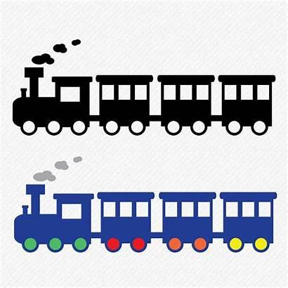 Train Silhouette Clipart Svg Zug Cut Dxf