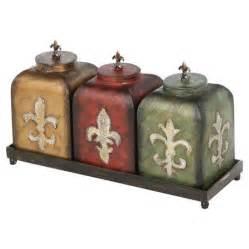 fleur de lis kitchen canisters fleur de lis canisters just for me chang 39 e 3 jars and colors