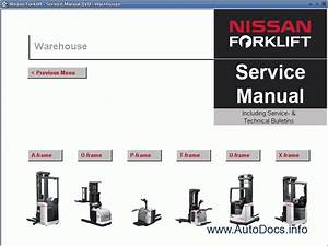 Nissan Forklift Service Manual Repair Manual Order  U0026 Download