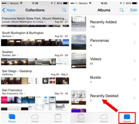 recently deleted photos iphone how to recover deleted photos from iphone 6s 6 plus free Recen