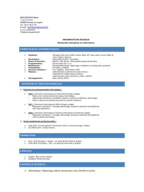 code rome commis de cuisine cv licence pro pdf par faboune fichier pdf