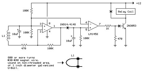 simple ac power current detector circuit  lm
