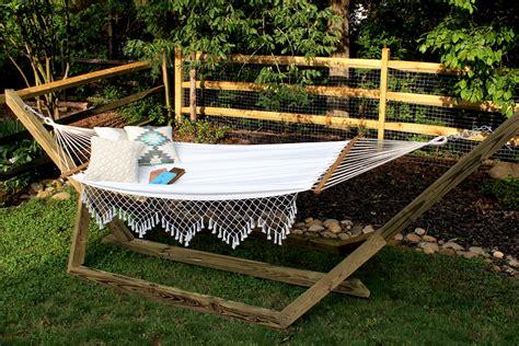 wood hammock stand diy custom wood hammock stand tag tibby