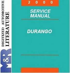 2000 Dodge Durango Original Service Manual