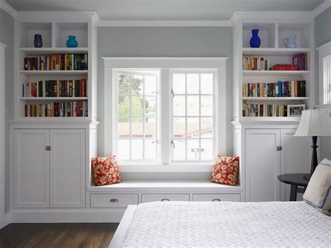 Window+bookcases  Window Seat Bench Design With Bookcase