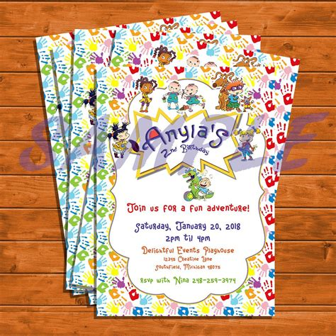 Rugrats Baby Shower Rugrats Birthday Or Baby Shower Invitations By