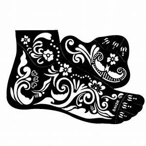 Henna Tattoo Schablonen : henna tattoo schablone f r den rechten fu der onlineshop f r haarschmuck und viel mehr ~ Frokenaadalensverden.com Haus und Dekorationen