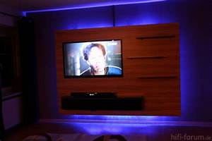 Optimale Höhe Fernseher : fernseh wand 02 doityourself lautsprecher hififorum ~ Frokenaadalensverden.com Haus und Dekorationen