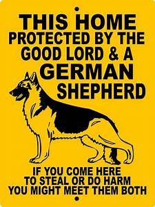"GERMAN SHEPHERD Dog Sign 9""x12"" ""Aluminum"" GLGSCY"