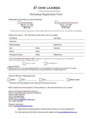 Sle Workshop Registration Form Template by Workshop Registration Form Bonelambdabbcomb Fill
