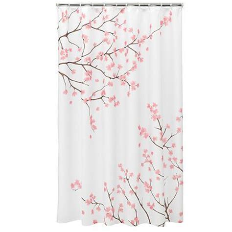 Cherry Blossom Curtain Material by Home Classics Cherry Blossom Shower Curtain Va House