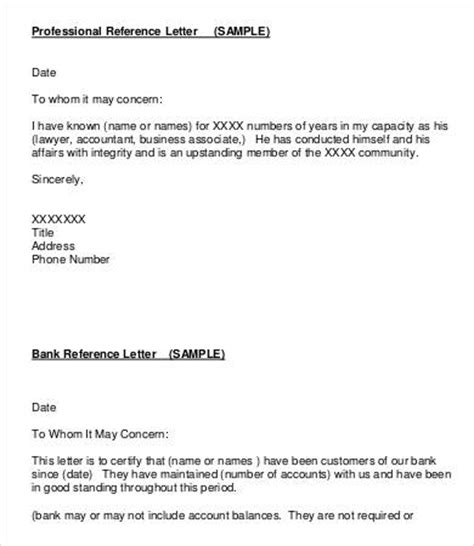 professional reference letter template letter of reference 10 free sle exle format free premium templates