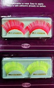 Neon False Eyelashes Candy Apple Costumes Women s 80s