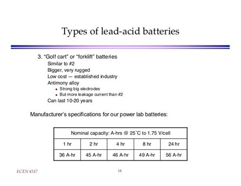 Lecture On Lead Acid Battery
