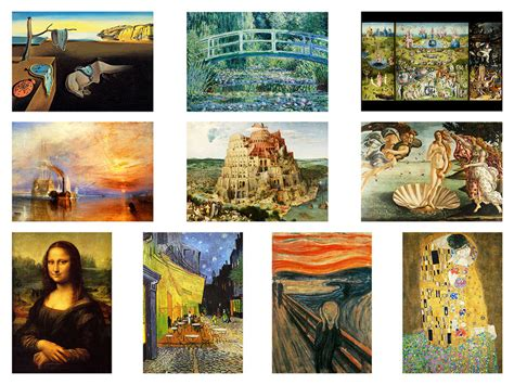 Most Famous Paintings Of All Time Art Masterpieces Print