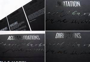 black wedding invitations modern foil st wedding invitations