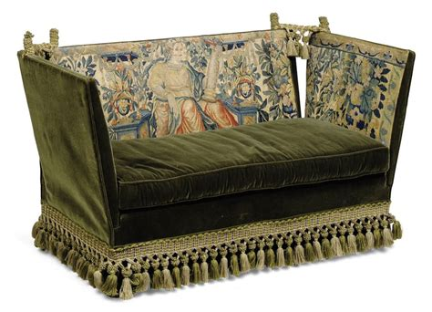Knole Settee For Sale by A Small Knole Sofa Early 20th Century Applied With 17th