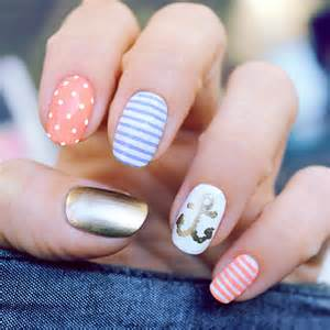 Cute anchor nail designs art and design
