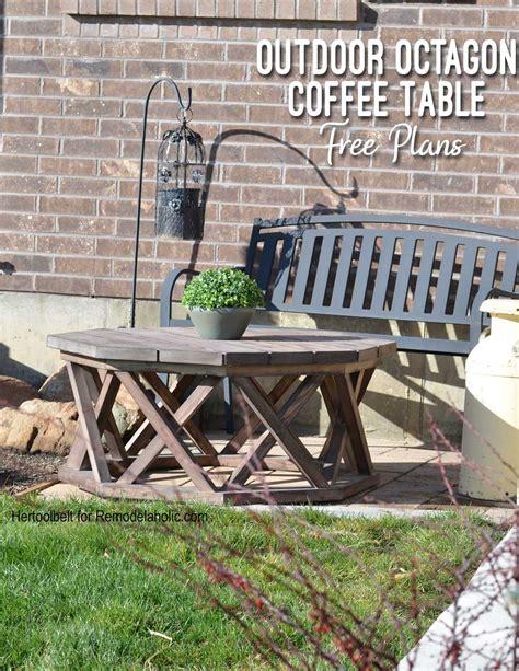 remodelaholic   build  outdoor octagon coffee