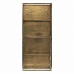 Vitrine Murale Verre : vitrine murale metal laiton et verre house doctor cabinet cb0752 ~ Melissatoandfro.com Idées de Décoration