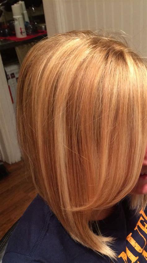 golden blonde  touch  strawberry blonde highlights