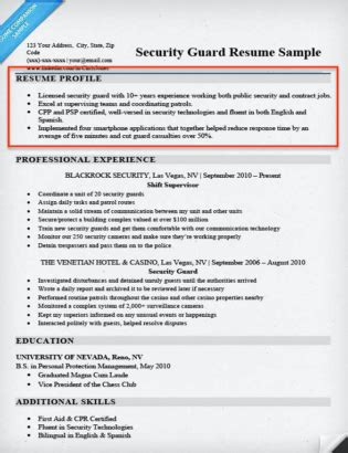 What Is A Resume Profile by Resume Profile Exles Writing Guide Resume Companion