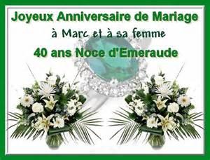 anniversaire de mariage 40 ans 50 39 s pour toujours bonnes noces d 39 emeraude a marc et epouse