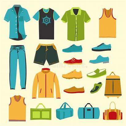 Clothes Illustration Icons Clothing Male Accessories Wardrobe