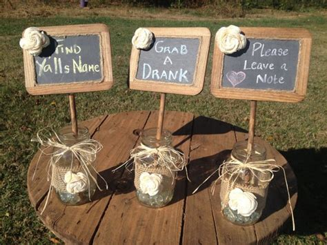 Items Similar To Shabby Chic Rustic Chalkboards In Mason