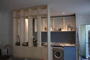 meuble separation cuisine salon collection et ateliers With meuble de separation cuisine salon
