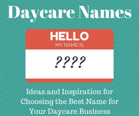 daycare names ideas and inspiration for choosing the 955 | 1d71d4d2c6f9daa3e011c2b899826cd2 daycare names daycare forms