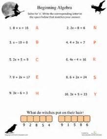 Algebra Beginner Worksheets Algebra Beginners Algebra Functions Fifth Gif