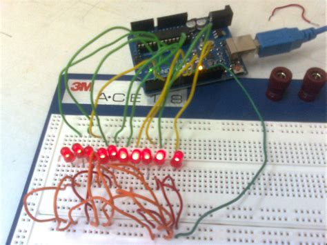 Making 1x10 LED Array With Random Patterns : 6 Steps ...