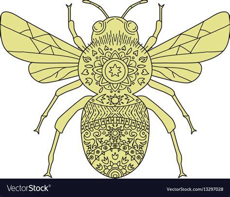 1718 x 1290 png 1100 кб. Bumble bee mandala Royalty Free Vector Image - VectorStock