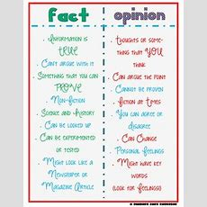 Fact And Opinion T Chart By A Pencil And A Dream Tpt